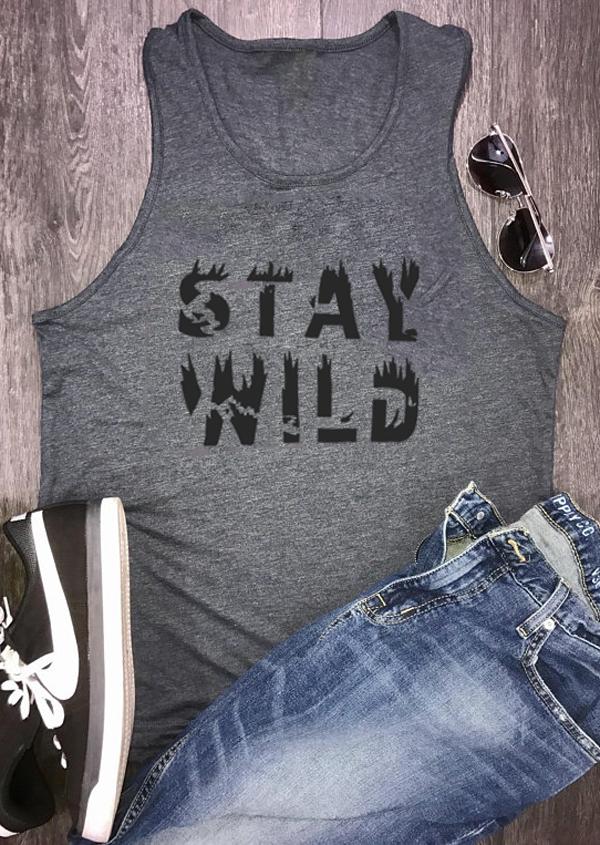 Stay Wild O-Neck Tank