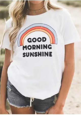Good Morning Sunshine Rainbow T-Shirt without Necklace
