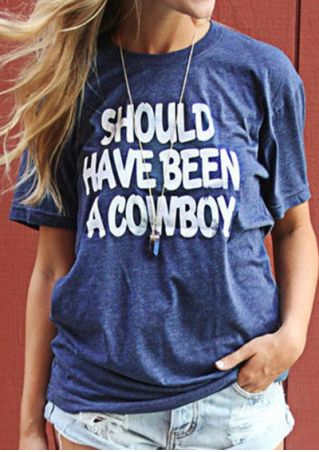 Should Have Been A Cowboy T-Shirt without Necklace