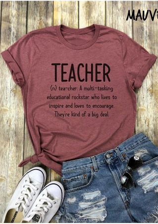 Teacher O-Neck Short Sleeve T-Shirt