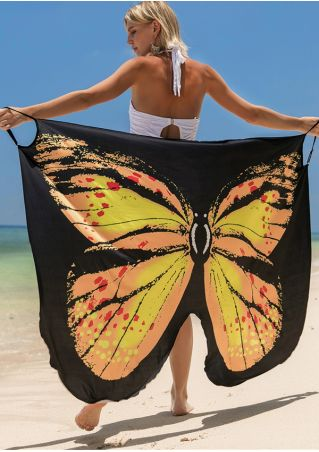 Butterfly Cover Up Beach Dress