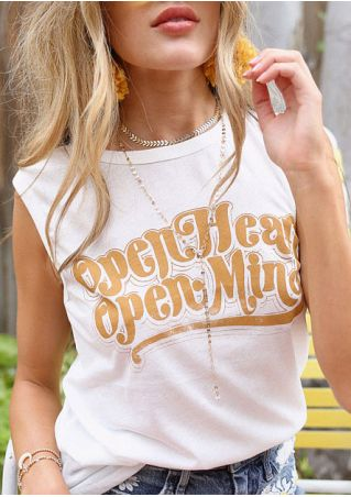 Open Heart Open Mind Tank without Necklace