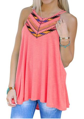 Geometric Printed Casual Tank