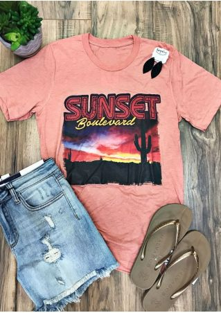 Sunset Boulevard O-Neck T-Shirt