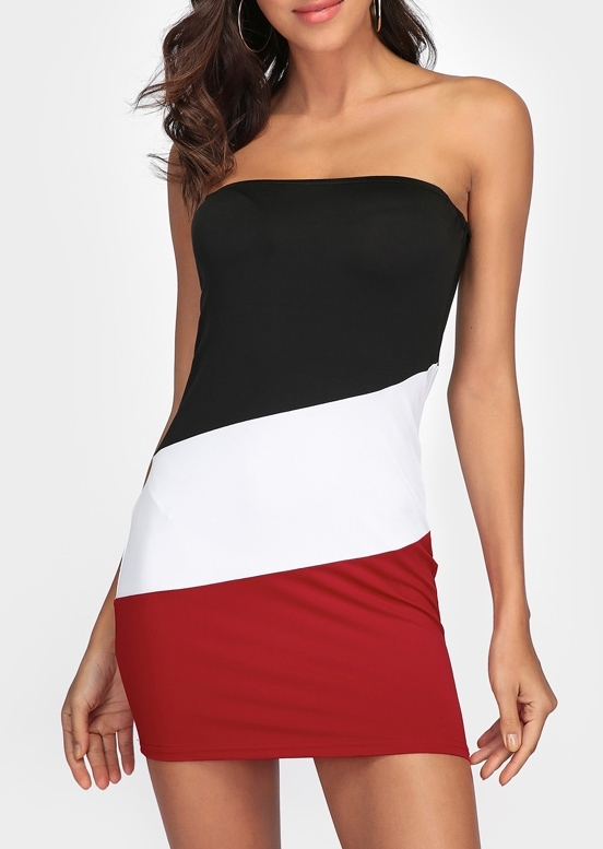 Image of Color Block Bodycon Dress