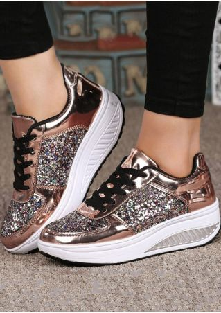 Bling Bling Lace Up Sneakers