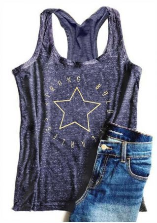 Strong Bold Fearless Star Tank