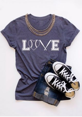 Love Baseball O-Neck T-Shirt