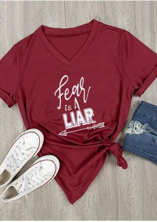 Fear Is A Liar Arrow T-Shirt