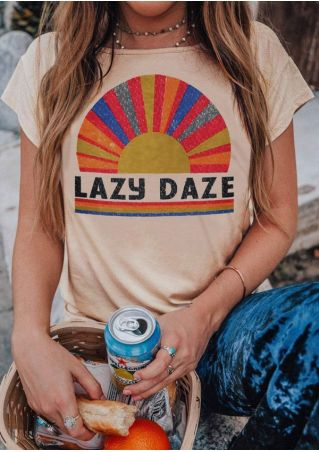 Lazy Daze Short Sleeve T-Shirt without Necklace