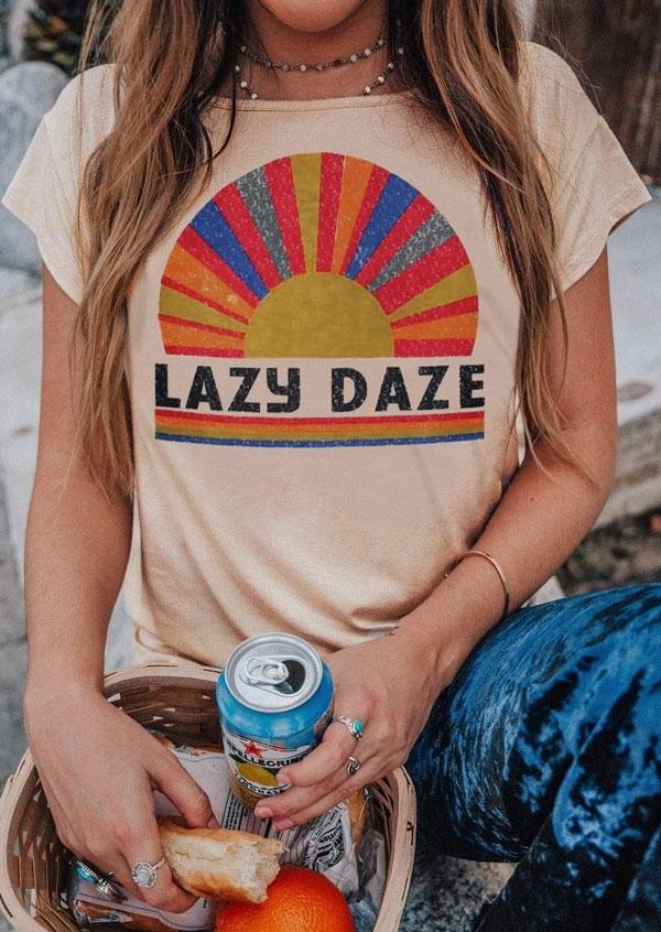 Lazy Daze Short Sleeve T-Shirt Tee without Necklace – Flesh