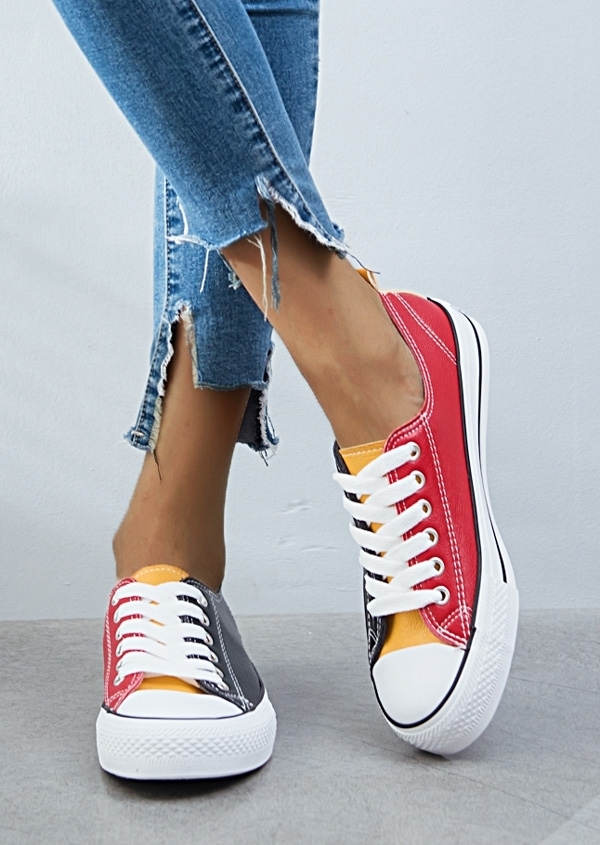 Image of Color Block Lace Up Sneakers
