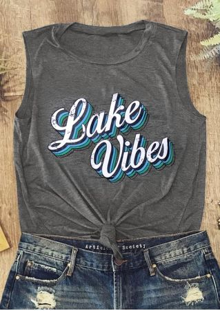 Lake Vibes O-Neck Tank