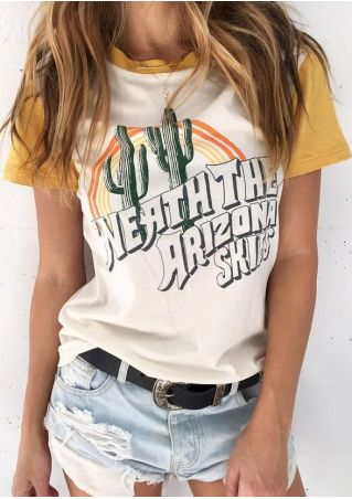 Neath The Arizona Skies Cactus T-Shirt