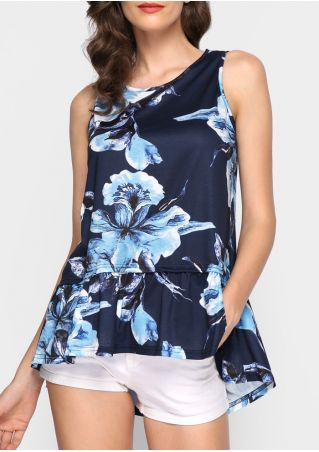 Floral O-Neck Casual Tank