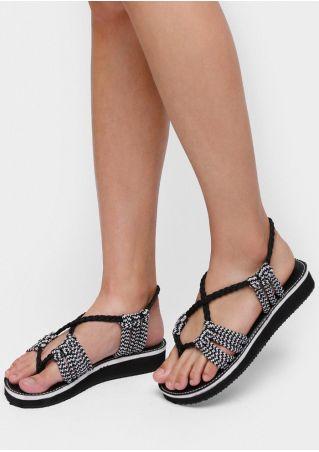 Summer Braid Flat Sandals