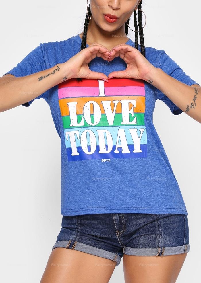 I Love Today V-Neck T-Shirt