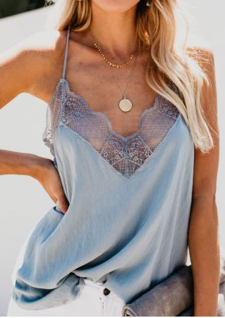 Solid Lace Splicing Camisole without Necklace