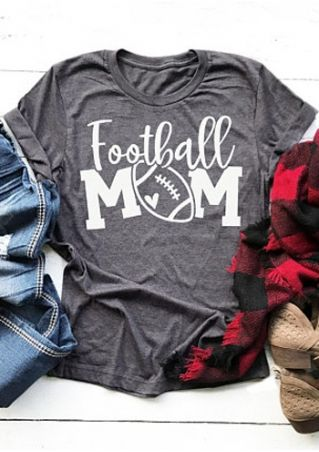 Football Mom O-Neck Short Sleeve T-Shirt