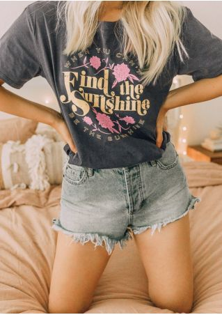 Find The Sunshine Floral T-Shirt