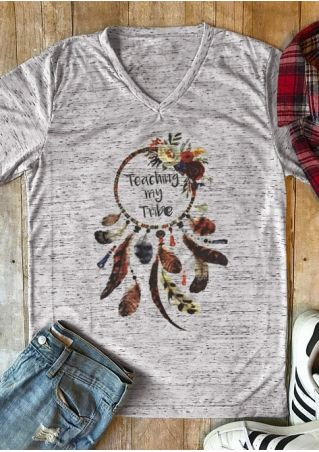 Teaching My Tribe Flora Dreamcatcher T-Shirt