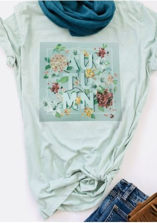 Autumn Floral O-Neck T-Shirt