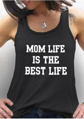 Mom Life Is The Best Life Tank without Necklace