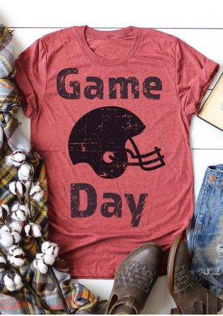 Game Day Football Helmet T-Shirt