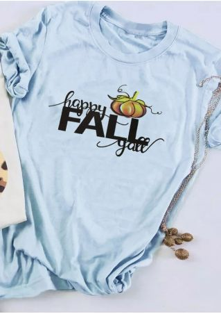 Happy Fall Y'all O-Neck T-Shirt