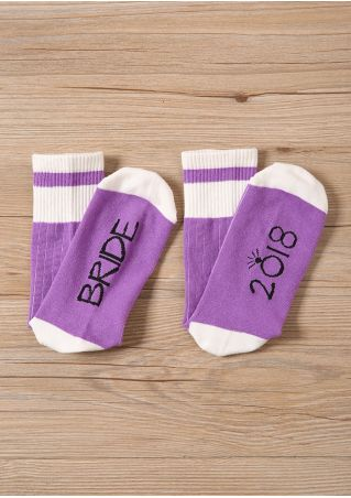 Bride 2018 Casual Socks