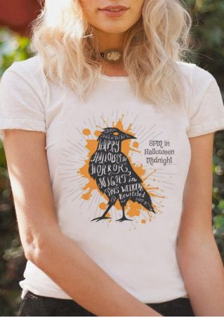 Halloween Midnight Short Sleeve T-Shirt without Necklace