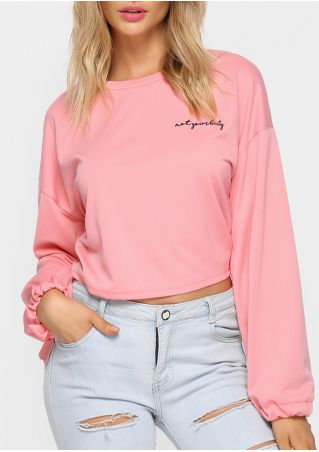 Not Your Baby Tie O-Neck Sweatshirt