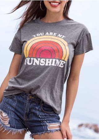 You Are My Sunshine Rainbow O-Neck T-Shirt