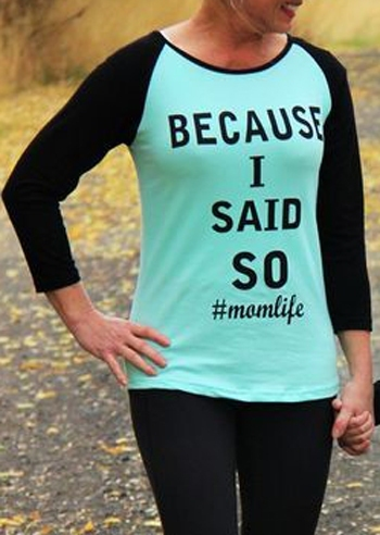 36a1e6b50 Mommy & Me Because I Said So Baseball T-Shirt Tee - Fairyseason