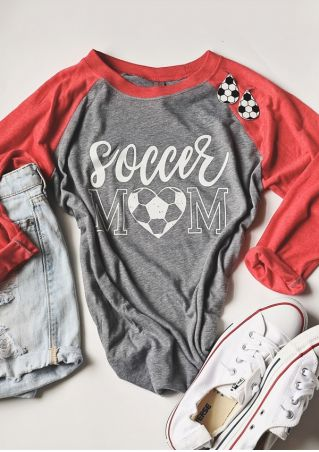 Soccer Mom Heart Baseball T-Shirt Tee