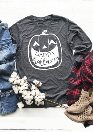 Happy Halloween Long Sleeve T-Shirt Tee