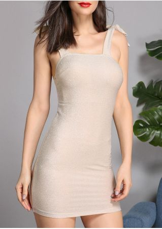 Solid Tie Backless Bodycon Dress