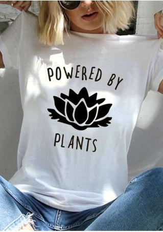 Powered By Plants O-Neck T-Shirt Tee