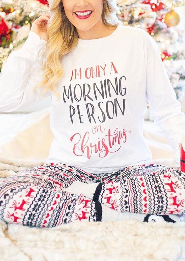 Image of Christmas Reindeer Snowman T-Shirt and Pants Set