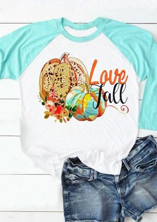 Love Fall Pumpkin Baseball T-Shirt