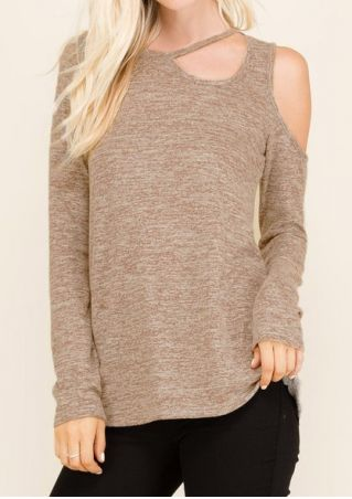 One Shoulder Hollow Out Blouse