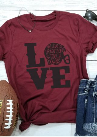 Love Football Tailgates Traditions & Touchdowns T-Shirt Tee