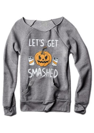Let's Get Smashed Pumpkin Sweatshirt