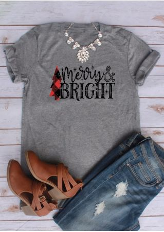 Merry & Bright O-Neck T-Shirt Tee