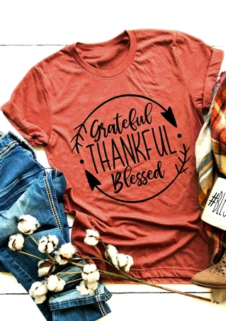 Grateful Thankful Blessed Arrow T-Shirt