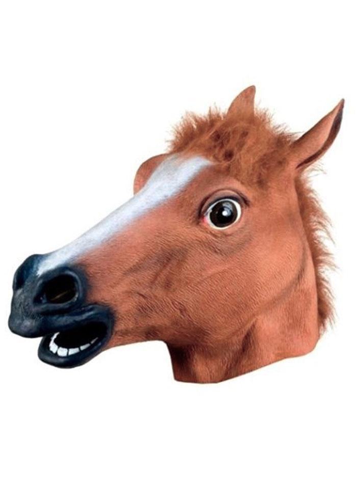 Image of Halloween Costume Cosplay Horse Head Mask