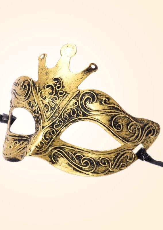 Image of Halloween Antique Male Jazz Bronze Half Face Mask