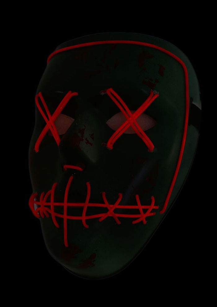 Image of Halloween Luminous Ghost Face Mask