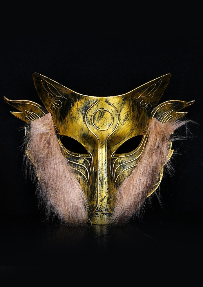 Image of Halloween Hollow Out Wolf Head Mask