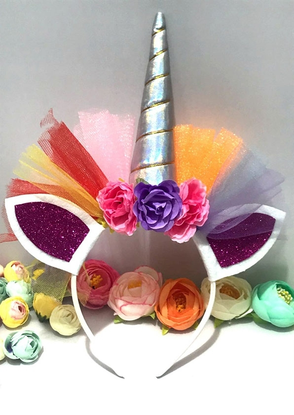 Image of Halloween Colorful Unicorn Hairband